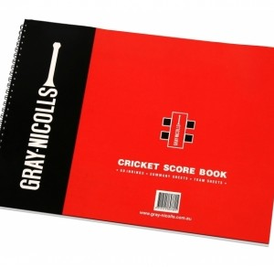 Gray Nicolls 60 innings paperback cricket score book