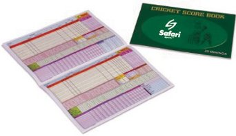 Safari 20 innings paper back score book
