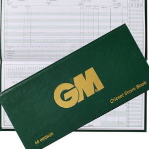 GM 60 innings hardback scorebook